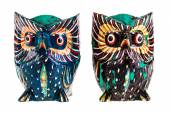 Wooden owls — Stock Photo