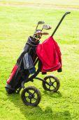 Classic golf bag — Stock Photo