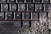 Dust covered keyboard — Stock Photo