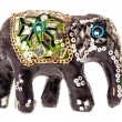 Decorated wooden elephant figurine — Stock Photo #73262449