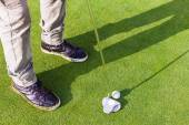 Putter on the green — Stock Photo