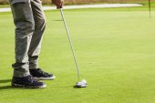 Golf detail on the green — Stock Photo