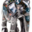 Black wooden elephant figurine — Stock Photo #78157084