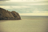 Beautiful Sea and Sky horizon Landscape with headland retro colors toning — Stock Photo