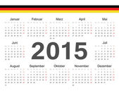 Vector german circle calendar 2015 — Stockvector
