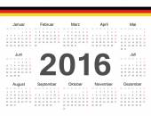 Vector german circle calendar 2016 — Stock vektor