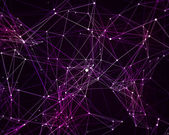 Digital background with cybernetic particles — ストック写真
