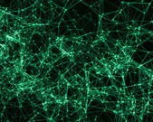 Digital background with cybernetic particles — Stock Photo