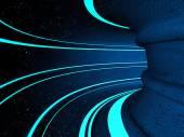 Fantasy illustration of sci-fi tunnel — Stock Photo