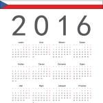 простой чешский 2016-летний векторный календарь - Стоковая иллюстрация #61991063. простой чешский...