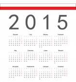 Simple Polish 2015 year vector calendar — Stock Vector