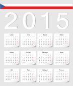 Czech 2015 calendar — Stock Vector