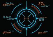 Futuristic blue and orange infographics — Stock Vector