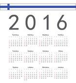 Square Finnish 2016 year vector calendar — Stock Vector