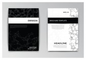 Vorlagen von Broschüre mit abstrakten Elementen — Stockvektor