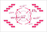 Pink vector elements as head-up display — 图库矢量图片