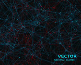 Vector blue and red geometric particles — Stock Vector