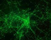 Achtergrond met cybernetische deeltjes — Stockfoto