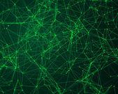 Tło z cybernetycznymi cząstek — Zdjęcie stockowe