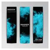 Template of banner with abstract smoky shapes — Stock Vector