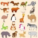 Cartoon animal set — Stock Vector #70502395