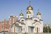 Temple in honor of the Annunciation in Samara — Foto de Stock