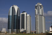 Buildings in a modern area of the city of Grozny — Stock Photo