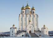 Holy Trinity Cathedral Magadan diocese of the Russian Orthodox Church — Stock Photo