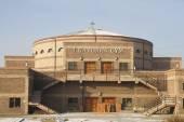 Ulaanbaatar, Монголия - 3 февраля: католическая церковь находится в процессе строительства в столице Монголии 3 февраля 2015 в ulaanbaatar. — Стоковое фото