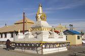 ULAANBAATAR, MONGOLIA - FEBRUARY 1: Buddhist stupa in the monastery Gandan on February 1, 2015 in Ulaanbaatar. — Stock Photo