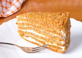 Puff honey cake — Stock Photo