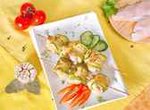 Rolls of zucchini and chicken fillets — Stock Photo