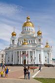 Saransk, Rusya Federasyonu - 9 Mayıs: Saint Katedrali salih savaşçı Fe — Stok fotoğraf