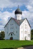 Kerk van de gedaanteverwisseling van onze Verlosser, veliky novgorod — Stockfoto