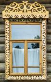 """Open-air Museum of Wooden Architecture """"Vitoslavlitsy"""", Russia — Stock Photo"""