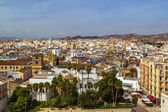 Widok z Malaga, Hiszpania — Zdjęcie stockowe