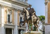 Statue of Marcus Aurelius, Rome — Stock Photo
