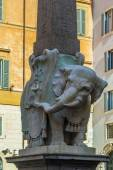 Elephant and Obelisk, Rome — Stock Photo