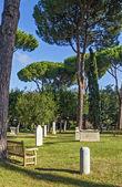 Protestant Cemetery, Rome — Stock Photo