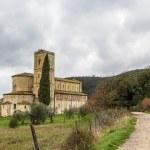 Abbey of Sant Antimo, Italy — Stock Photo #72208275