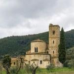 Abbey of Sant Antimo, Italy — Stock Photo #72208291