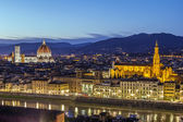 View of Florence in evening, Italy — Stock Photo