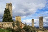 View of San Gimignano tower, Italy — Stock Photo