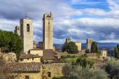 View of San Gimignano tower, Italy — Foto de Stock