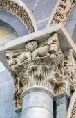 Capital of Pisa cathedral column, Italy — Stock Photo