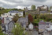 View of Monschau from hill, Germany — Stock Photo