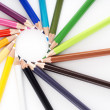 Abstract background from color pencils — Stock Photo #52650545