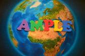 Ample word — Stock Photo