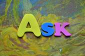 Zapytać słowo — Zdjęcie stockowe