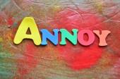 ANNOY — Stock Photo